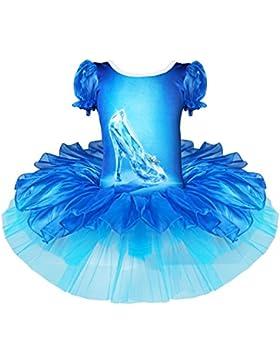 Freebily Vestido Maillot de Danza Ballet Fiesta para Niña Discfraz Infantil de Princesa Carnaval Traje de Actuación