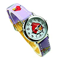 NEW Lovely Angry bird children kids cartoon Watches leather Watch Band WP@KTW148917Z
