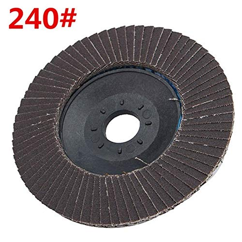 HDHUA Molienda Manual 100 mm Muela esmeriladora Angular Solapa Disco de Lijado de Grano abrasivo 120/240/320 Ruedas (tamaño : 240#)