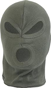 3 Hole Balaclava Lightweight Cotton Paintball Airsoft Hunting Olive from Mil-Com