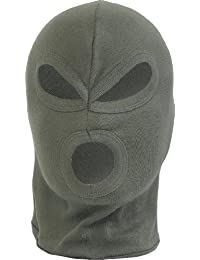 3 Hole Balaclava Lightweight Cotton Paintball Airsoft Hunting Olive