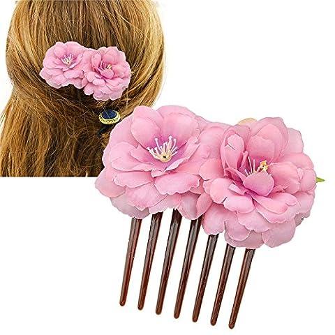 Cuhair (TM) 1PC Rose Fleur Femme Fille Cheveux Peigne diapositive Clip Broche Griffe Barrettes Accessoires