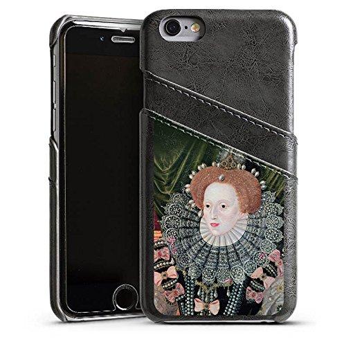 Apple iPhone 5 Housse Étui Silicone Coque Protection Elisabeth I Angleterre Reine Étui en cuir gris