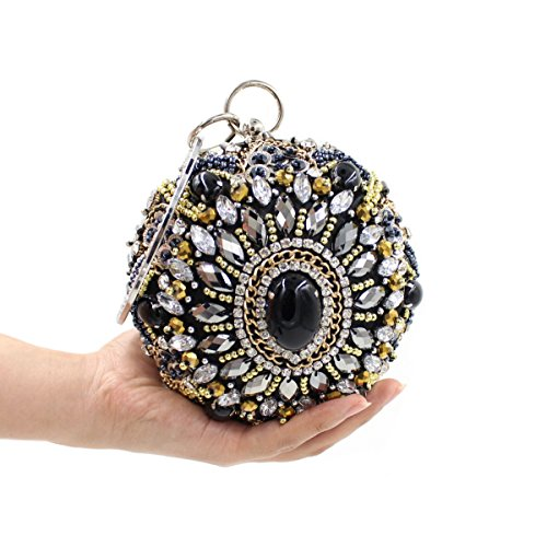 Di Alta Qualità Borsa Borsa Borsa Diamante Di Lusso Di Perline Banchetto Delle Donne Black