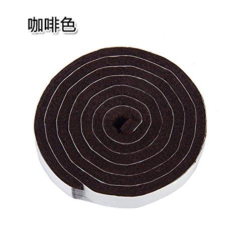 KXZDAS poussière auto-adhésif PVC porte de bruit du vent joint bas de porte porte en verre marron bouclier 1 vente m