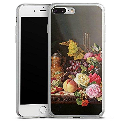 Apple iPhone 8 Plus Slim Case Silikon Hülle Schutzhülle Stillleben Kunst Art Silikon Slim Case transparent