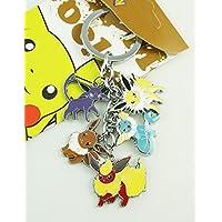 Pokemon Pocket Monster metal encanto llavero (Jolteon, del, Eevee Espeon, Flareon y