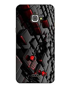 Case Cover Abstract Printed Black Hard Back Cover For InFocus M350