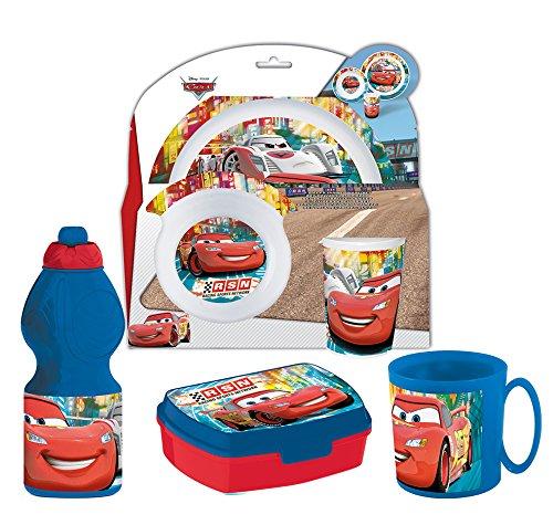 Pack basic 6 unità cars (piatto, scodella, bicchiere, bottiglia, portapanino, tazza)