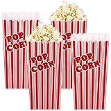 infactory Popcornbecher: 4er-Set Wiederverwendbare Popcorn-Boxen, 2 Liter, rot-weiß gestreift (Popcorn Eimer)