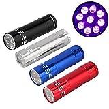 VALUEU Mini Aluminium UV Ultra Violet 9LED Lampe Torche de Meilleurs Outils pour Camping randonnée Chasse Pêche Barbecue et EDC