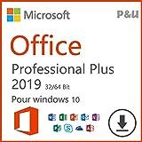Office 2019 Professional Plus 32/64 bits | Licence Lifetime | Pas d'abonnement | (Seulement pour windows 10) | Licence numérique originale Envoyé par E-mail P&U