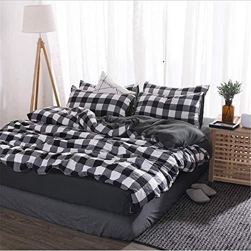 SHJIA Bettbezug aus gewaschener Baumwolle Weiche Bettwäsche-Sets Bedskirt Pillowshams Queen King Twin Größe G 220x240cm
