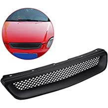 Hood Grille Delaman Car ABS Front Hood Malla Parachoques Parrilla para Honda Civic JDM Type R
