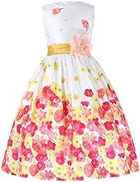 Grace Karin® Vestido de Princesa sin Mangas con Volantes de Dama de Honor Boda Bautizo Fiesta