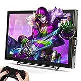 Tragbar 11.6 Zoll Monitor 16:9 IPS Display 1920x1080 Full HD, 170° Breitbild Gaming Monitor mit Ständer, HDMI VGA Dual Built In Speakers, für Raspberry Pi, CCTV Kamera, PC Anzeige(11,6 Zoll)