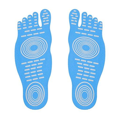 Calzini a piedi nudi per l'esercizio di piscine per piscina, pattino d'acqua, calzini antisdrucciolevoli di yoga, piedino adesivo adesivo per le donne, protezione elastica dei piedini flessibili Blu (1 paio)