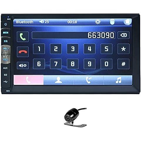 EinCar Audio BVB251NN Doppio Din 7 pollici touch screen No-DVD