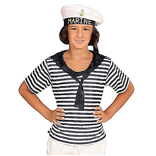 Widmann 03117 - Kinderkostüm Marine Set, Shirt und Hut