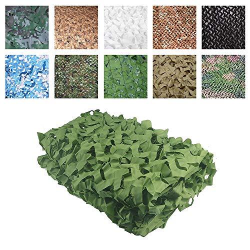 CPSHWZW Gartenpflanzengeschäft Schattennetz Sun Netting Camo Markisen Zelt Oxford Stoff, Geeignet für Hide Disguise Jagdschießen 3x5m Großer Garten, Grün (Size : 5 * 6M)