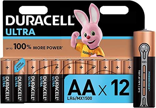 Oferta de Duracell Ultra AA con Powerchek, Pilas Alcalinas, Paquete de 12, 1.5 Voltios LR06 MX1500