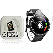 Ycloud Protector de Pantalla para Garmin Forerunner 220 / 225 / 230 / 235 / 620 / 630 Smart Watch in vetro temperato Ultra Resistente Protezione Esterna Durezza 9H