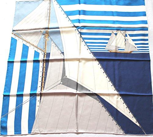 longchamp-seidentuch-89-x-89cm-segel-schiff-in-blau-scarve