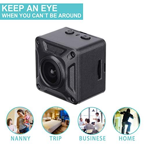 1080P Hidden Spy Cameras Wireless Body Mini Security Nanny Cam with Motion Activated and Night Vision Indoor Super Small HD Covert Tiny Spy Cam,Small Surveillance Camera for Home Office (Black) (Monitor Spy)