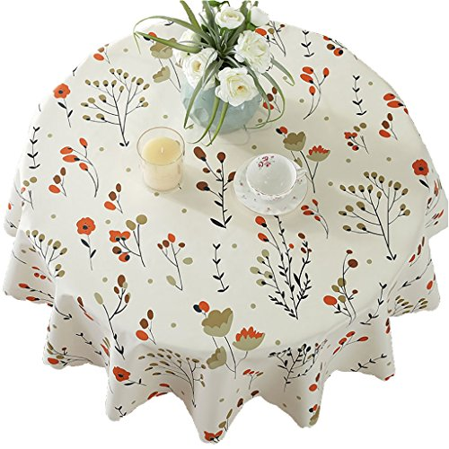 PVC Tischdecke Runde Tischdecke (Durchmesser 80 cm) Wasserdicht Anti-Hot Tisch Matten Tee Tisch Kunststoff Tischdecke (Farbe : Style 2)