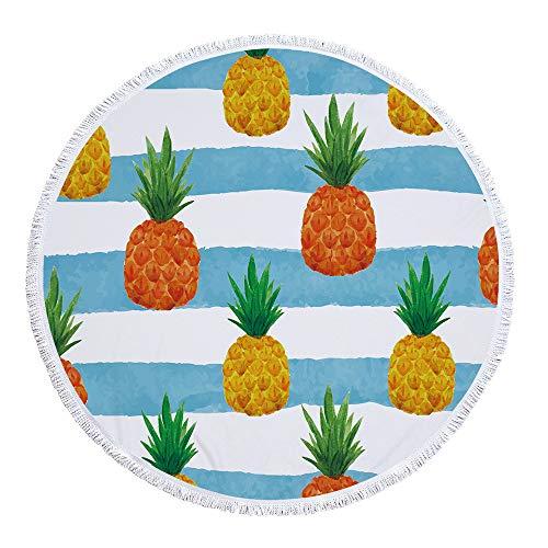 Strandtuch groß & sandfrei, Bambus Mikrofaser Handtuch für Sonnenliege, Microfaser Badetuch groß & schnell trocknend,Tropenpflanze A-1 300 g fertiges Polyestermaterial
