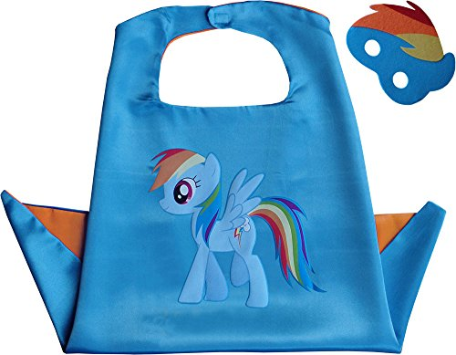 Little Pony Rainbow Dash Kindes Umhang & Maske (My Little Pony Maske)