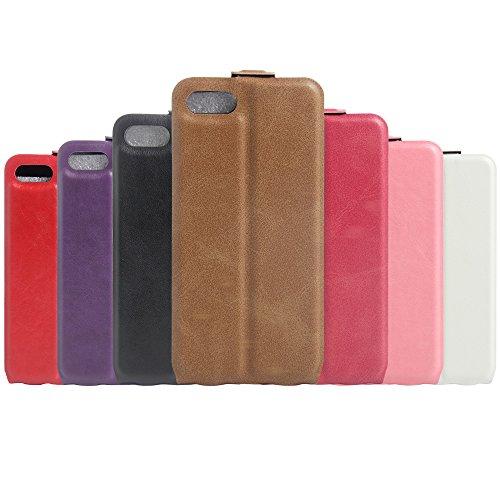 Coque iPhone 7 Plus,Manyip Téléphone Coque - PU Cuir rabat Wallet Housse [Porte-cartes] multi-Usage Case Coque pour iPhone 7 Plus,Classique Mode affaires Style C