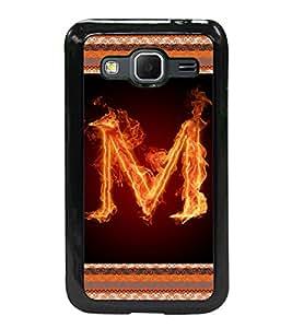 Printvisa 2D Printed Alphabet M Designer back case cover for Samsung Galaxy Core Prime G360H- D4202