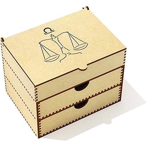VC00010798      Diseño original por Micaela Jawor.   Esta hermosa caja es ideal para guardar maquillaje y joyería. La tapa se abre en un área de almacenamiento seccionada y hay dos gavetas para almacenar otros artículos.   Dimensiones:   Anch...