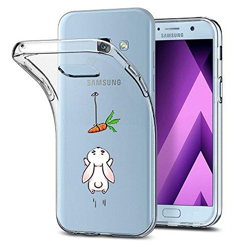 AIsoar Samsung A5 2017 Hülle, Galaxy A5 2017 Handyhülle Slim, Weiche Dünn Transparent Silikon Flex TPU Schutzhülle Clear stoßfest Case Kleiner Prinz Kratzfest Cover für Samsung A5 2017 (Karotte) -