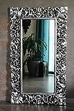 Eleganter Wandspiegel Barockspiegel Silber antik 120cm x 70cm