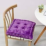 Tatami Stuhl-pad, Super weicher Reiner Farbe verdicken eckig plüsch Anti-rutsch Kissen bodenkissen Stuhl-Matte Sitzkissen Innen-und außenbereich-Lila 38x38cm(15x15inch)