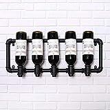ZWJ Weinregale Weinregal Weinbar Moderne Flasche Metall an der Wand, Weinflaschenregal, horizontale Weinflasche Rack
