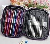 #5: Aeoss 22 Pc / Set Multi Stainless Steel Tool Set Needles Crochet Hooks Needles Knitting Yarn Craft Kit With Case