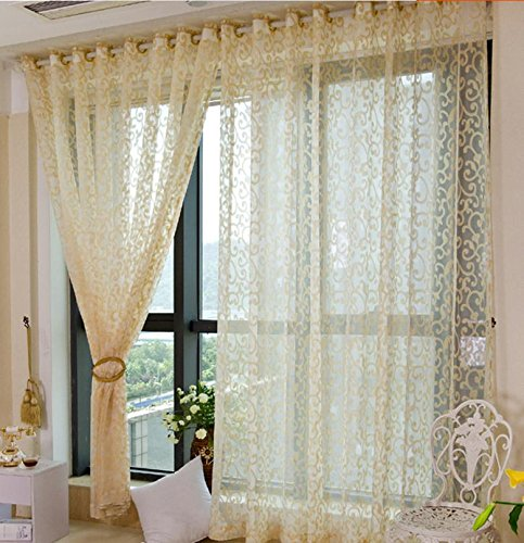 TINE One Panels Vorhang Modern, Solid Living Room Leinen/Polyester Blend Material Sheer Vorhänge Shades Home Decoration Für Fenster, Rod Pocket, w150cm*L250cm (Rod Pocket Panel)