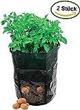 2pezzi patate Sacco per piante Vaso per piante patate patata vaso per piante POTA topot  35cm diametro x 45cm H)
