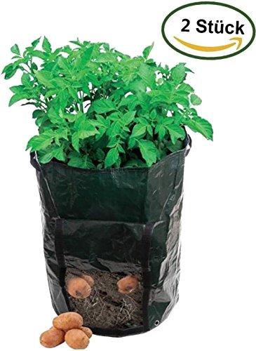 2 Stück Kartoffel Pflanzbeutel Pflanzgefäß Pflanzkartoffeln Kartoffel-Pflanztopf PotatoPot(35 cm Durchmesser x 45 cm H)
