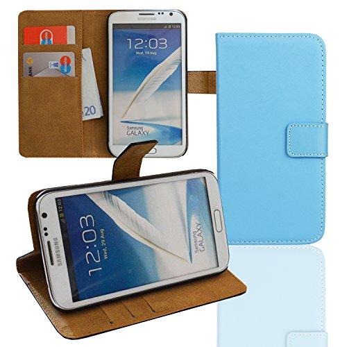EximMobile Brieftasche Handytasche Flip Case Etui für Samsung Galaxy Mega 6.3 Blau