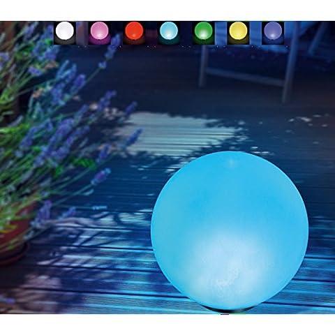 Boule led lumineuse solaire étanche, à poser ou