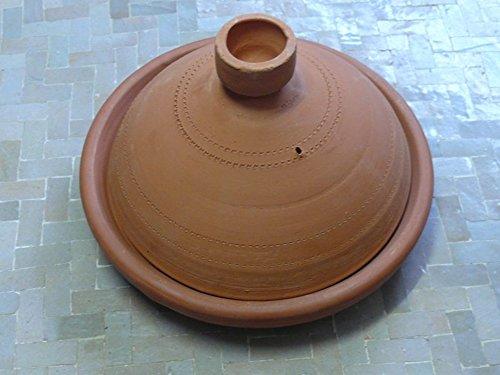 Marokkanische Tajine zum Kochen unglasiert ø 30 cm für 3-4 Personen