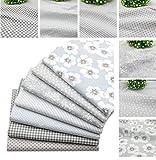 BYY Stoffbündel, Grau, 40 x 50 cm, Baumwolle, zum Basteln,
