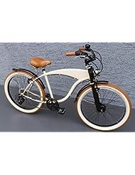 '26showbike Cruiser bicicleta 7velocidades Shimano dinamo de buje Schwalbe Beige