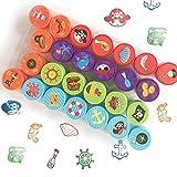 Bestele 24Farben, für Kinder, Regenbogenfarben-Set für Gummi-Stempel, mit für Kinder, Karten und Scrapbooking 26 Buccaneer Stamps