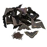 Mxfans 40x bronzo antico ferro scrivania bordo copertura scatola angolo Protector 45x 13MM
