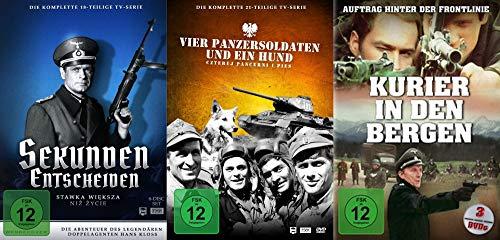 Der 2. Weltkrieg TV-Serien Klassiker Paket - Sekunden entscheiden + Vier Panzersoldaten und ein Hund + Kurier in den Bergen 16 DVD Box Collection